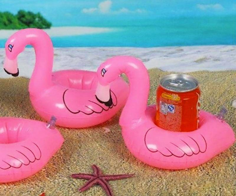 Inflatable Pink Flamingo Coasters - http://coolthings.us