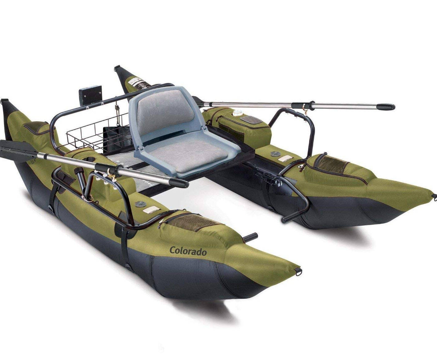 Inflatable Pontoon Boat with Motor Mount - http://coolthings.us