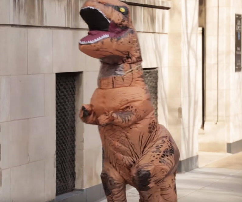 Inflatable T-Rex Costume - http://coolthings.us