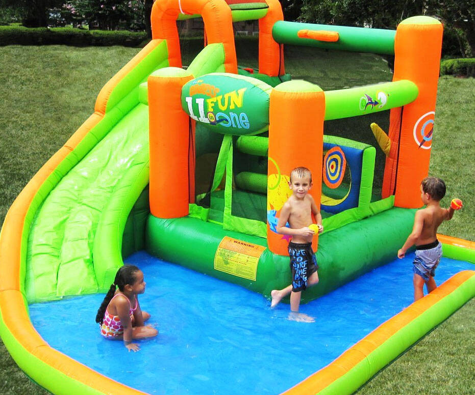 Inflatable Water Slide Bounce House - http://coolthings.us