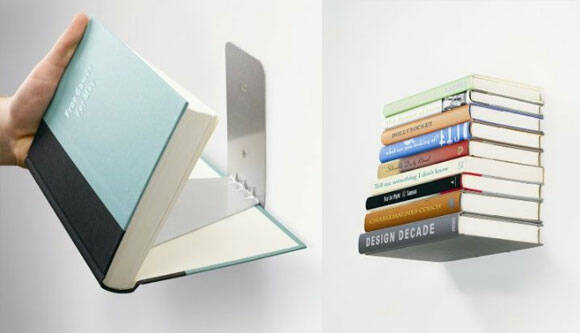 Invisible Wall Book Shelf - http://coolthings.us