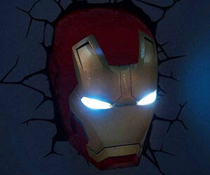 Iron Man 3D Lamp - http://coolthings.us