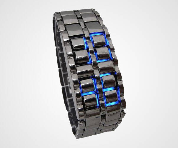 Iron Samurai Blue LED Watch - http://coolthings.us