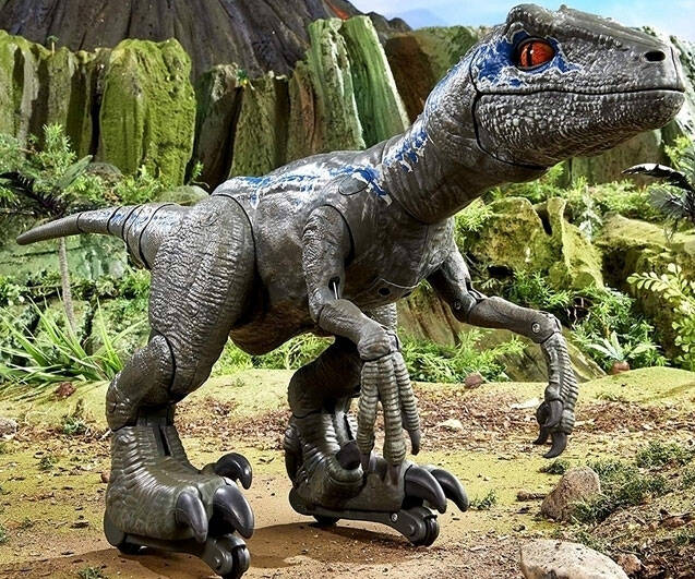 Jurassic World Trainable Robotic Pet Blue - http://coolthings.us
