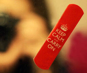 Keep Calm And Carry On Bandages - http://coolthings.us