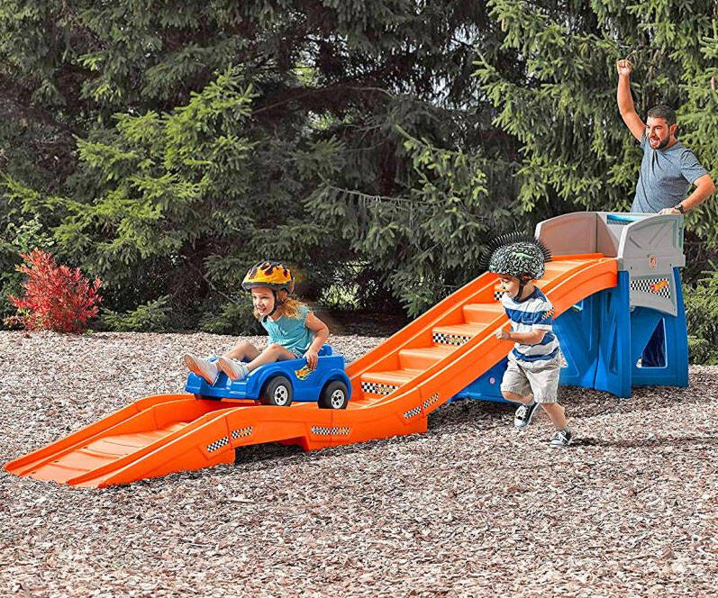 Backyard Ride-On Roller Coaster - http://coolthings.us