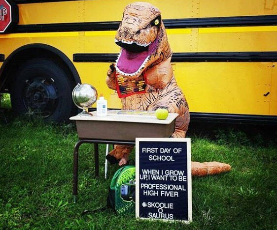 Kid's Inflatable T-Rex Costume - coolthings.us