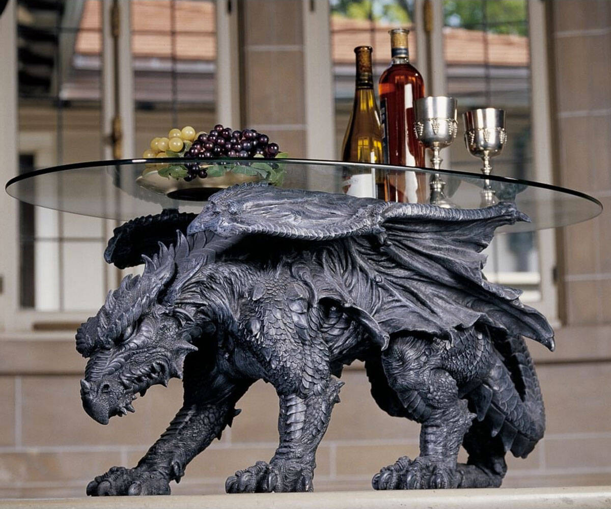 Kneeling Dragon Table - http://coolthings.us