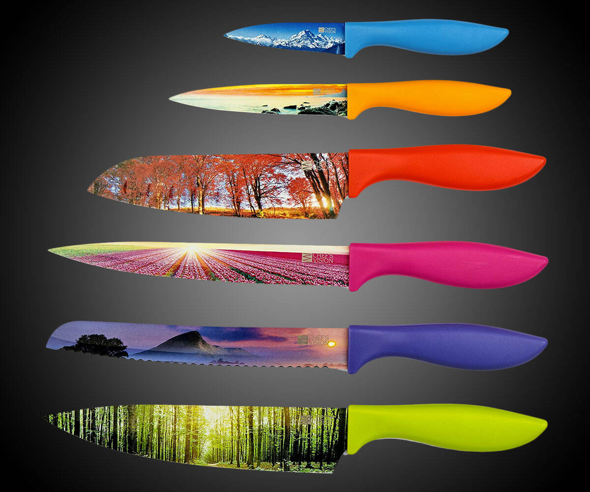 Landscape Kitchen Knife Set - http://coolthings.us