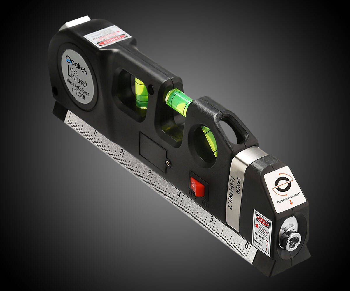 Laser Level & Measuring Tape - http://coolthings.us