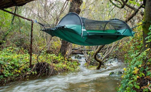 Tent Hammock - http://coolthings.us