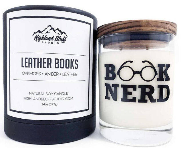 Leather Book Scented Candle - coolthings.us