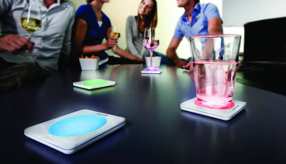 LED Light Up Drink Coasters - http://coolthings.us
