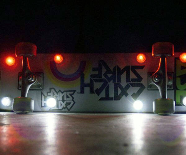 Underglow Skateboard Lights - http://coolthings.us