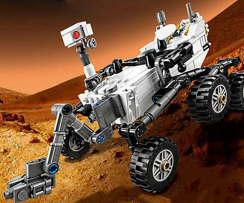 LEGO Mars Curiosity Rover - http://coolthings.us