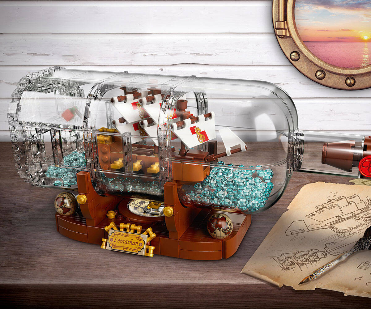 LEGO Ship In A Bottle - http://coolthings.us