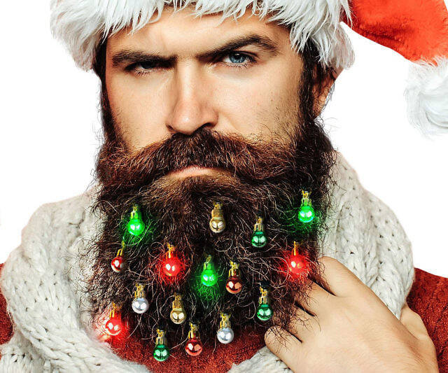 Light Up Beard Christmas Ornaments - coolthings.us