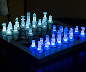 Light Up Chess Set - http://coolthings.us