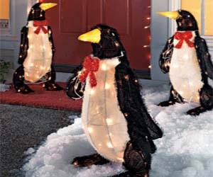 Light Up Penguin Decorations