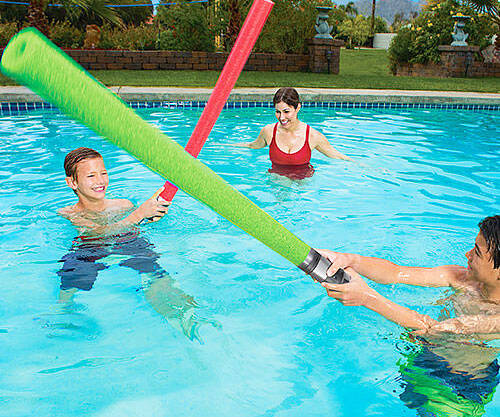 Lightsaber Pool Noodles - http://coolthings.us