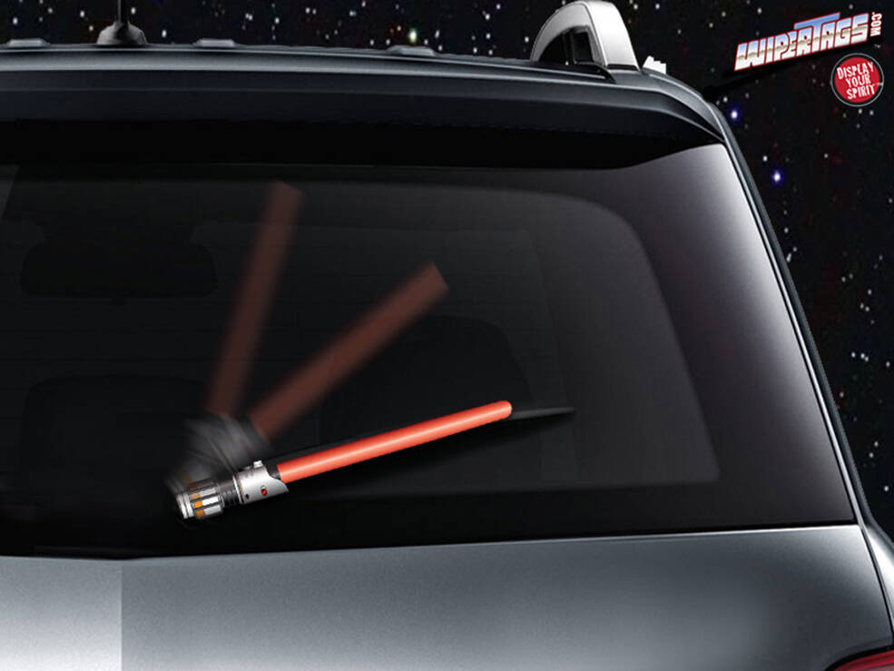 Lightsaber Windshield Wiper Blades - http://coolthings.us