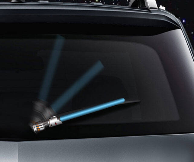 Lightsaber Rear Wiper Cover - http://coolthings.us