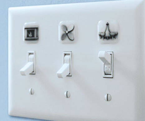 Light Switch Cover Labels - http://coolthings.us