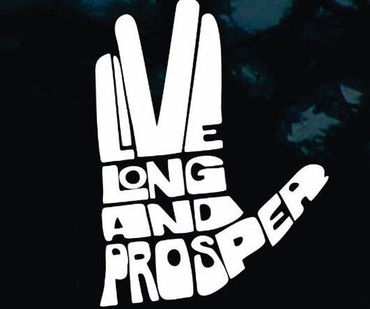 Live Long And Prosper Car Decal - http://coolthings.us