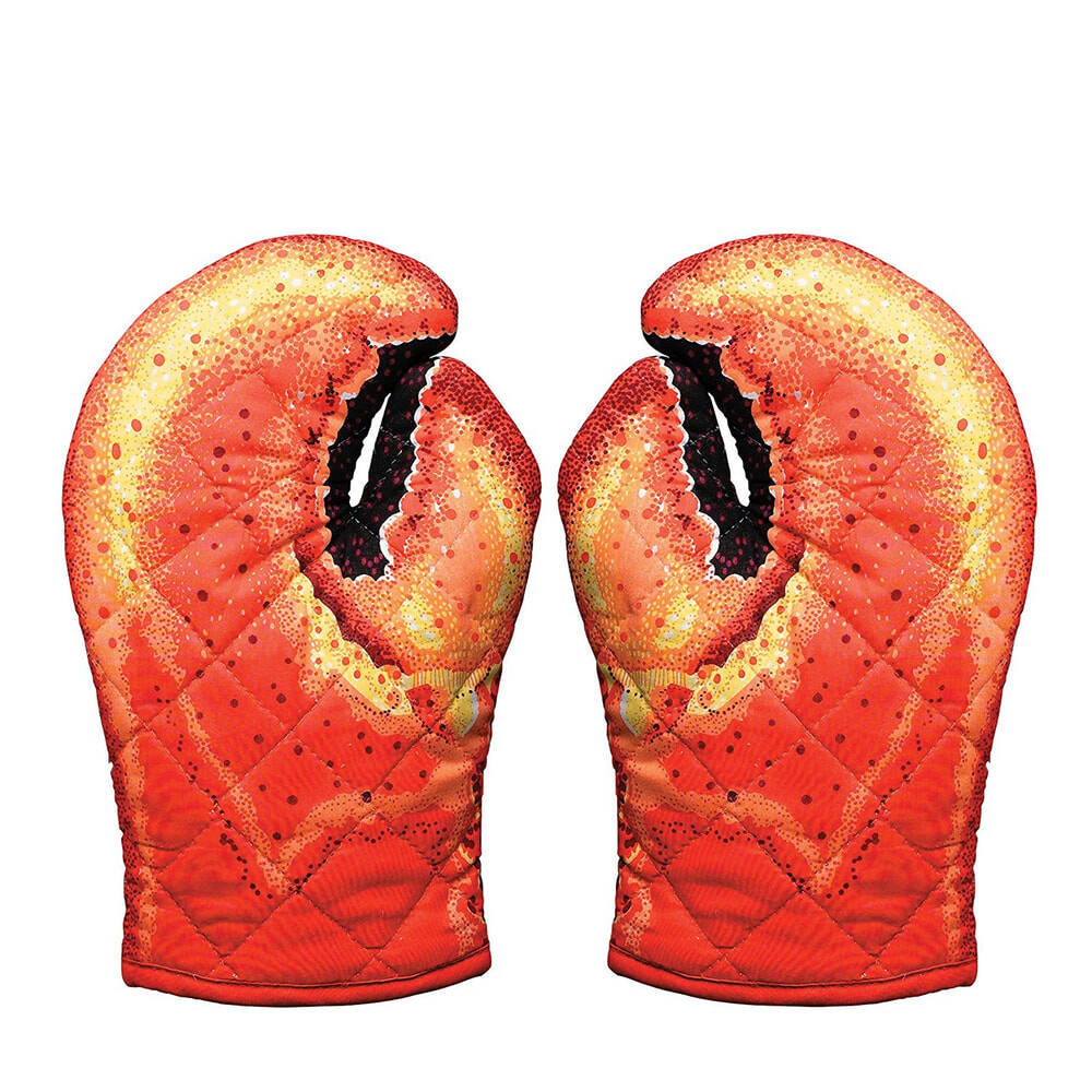 Lobster Claw Oven Mitts - http://coolthings.us