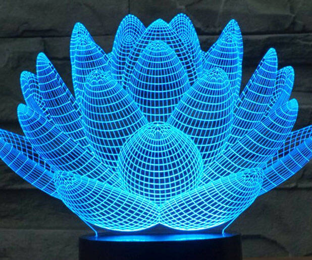 Blooming Lotus Desk Lamp - http://coolthings.us