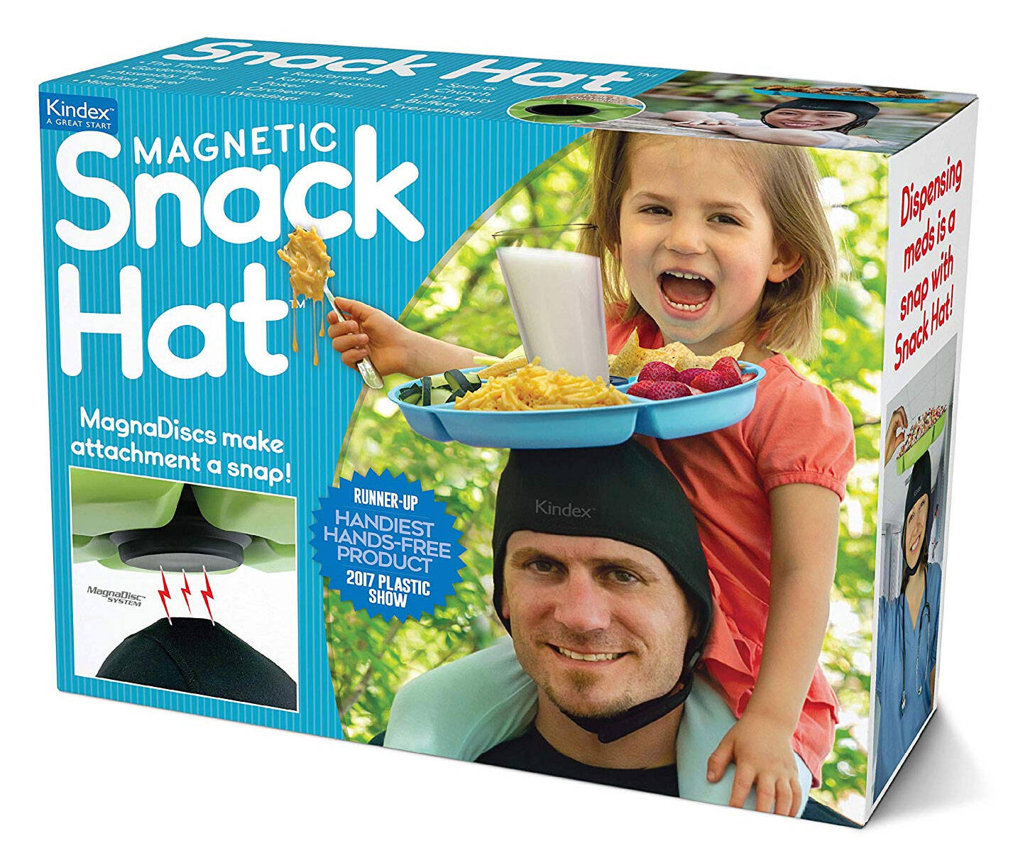 Magnetic Snack Hat - http://coolthings.us
