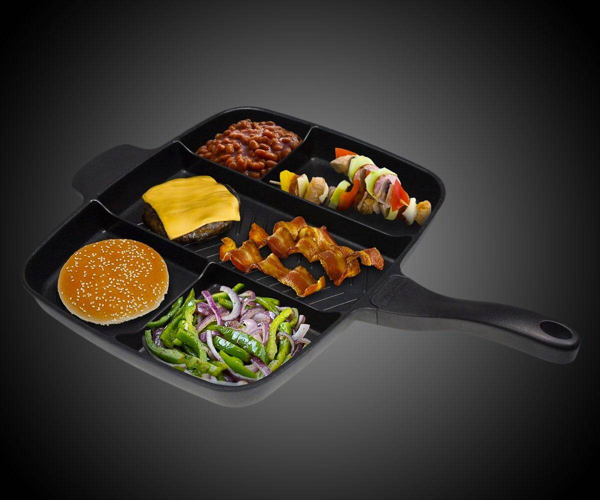 5-Section Nonstick Divider Frying Pan - http://coolthings.us