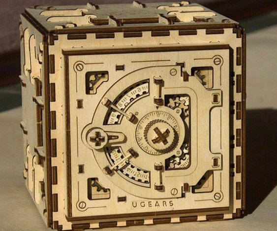 3D Wooden Safe Puzzle Kit - http://coolthings.us