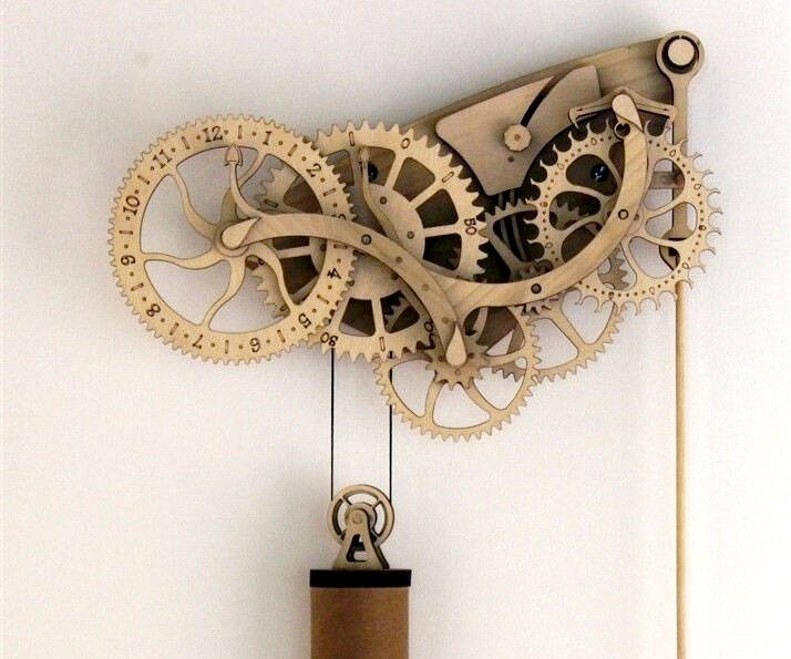 Mechanical Wooden Clock Kit - http://coolthings.us
