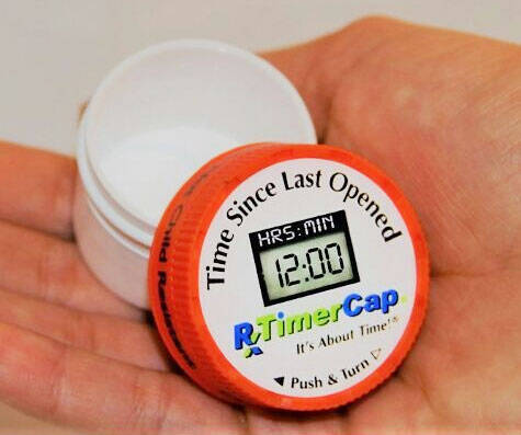 Medicine Bottle Timer Caps - http://coolthings.us