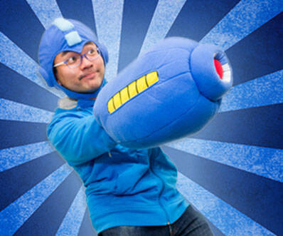 Mega Man Arm Pillow - http://coolthings.us