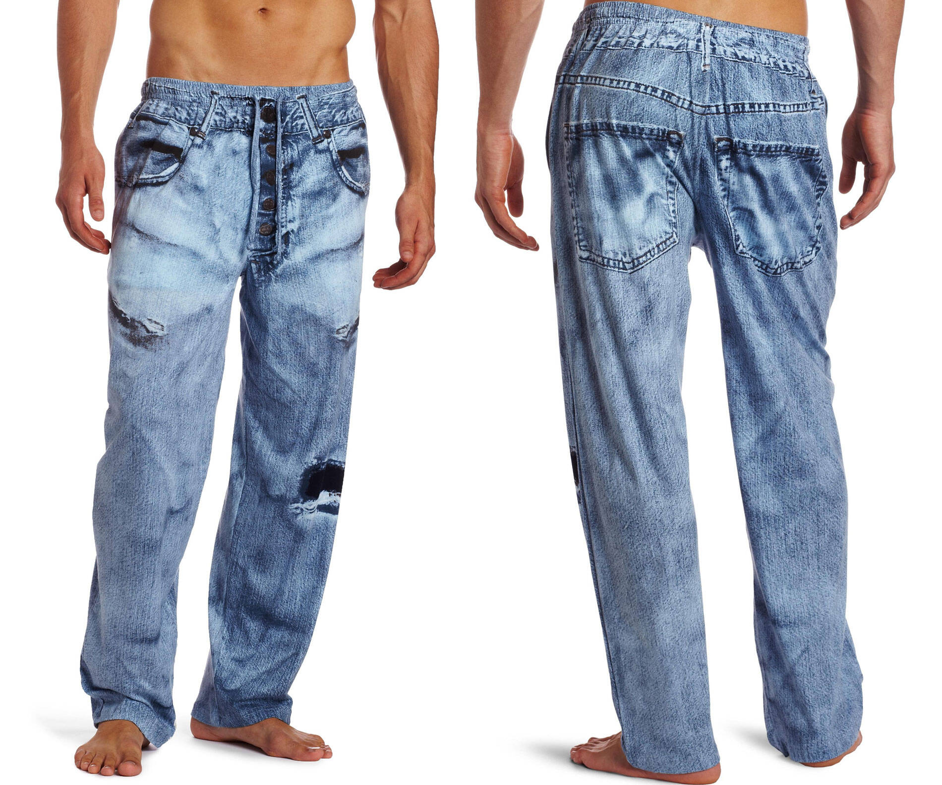Men's Faux Denim Pajama Pants - http://coolthings.us