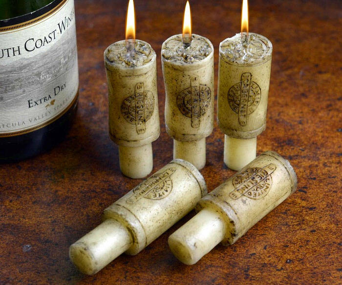 Merlot Scented Wine Cork Candles - http://coolthings.us