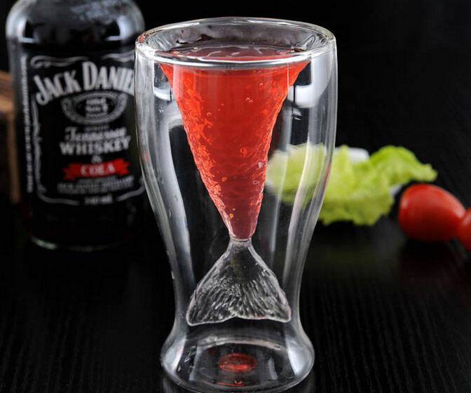 Mermaid Tail Glass Cup - http://coolthings.us