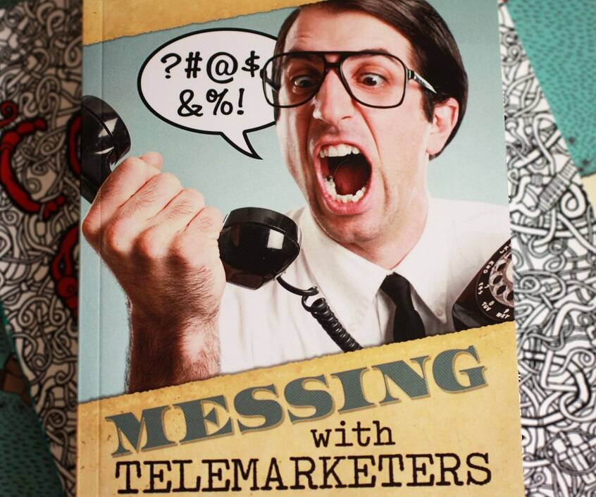 Messing With Telemarketers Book - http://coolthings.us
