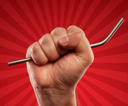 Metal Drinking Straw - http://coolthings.us