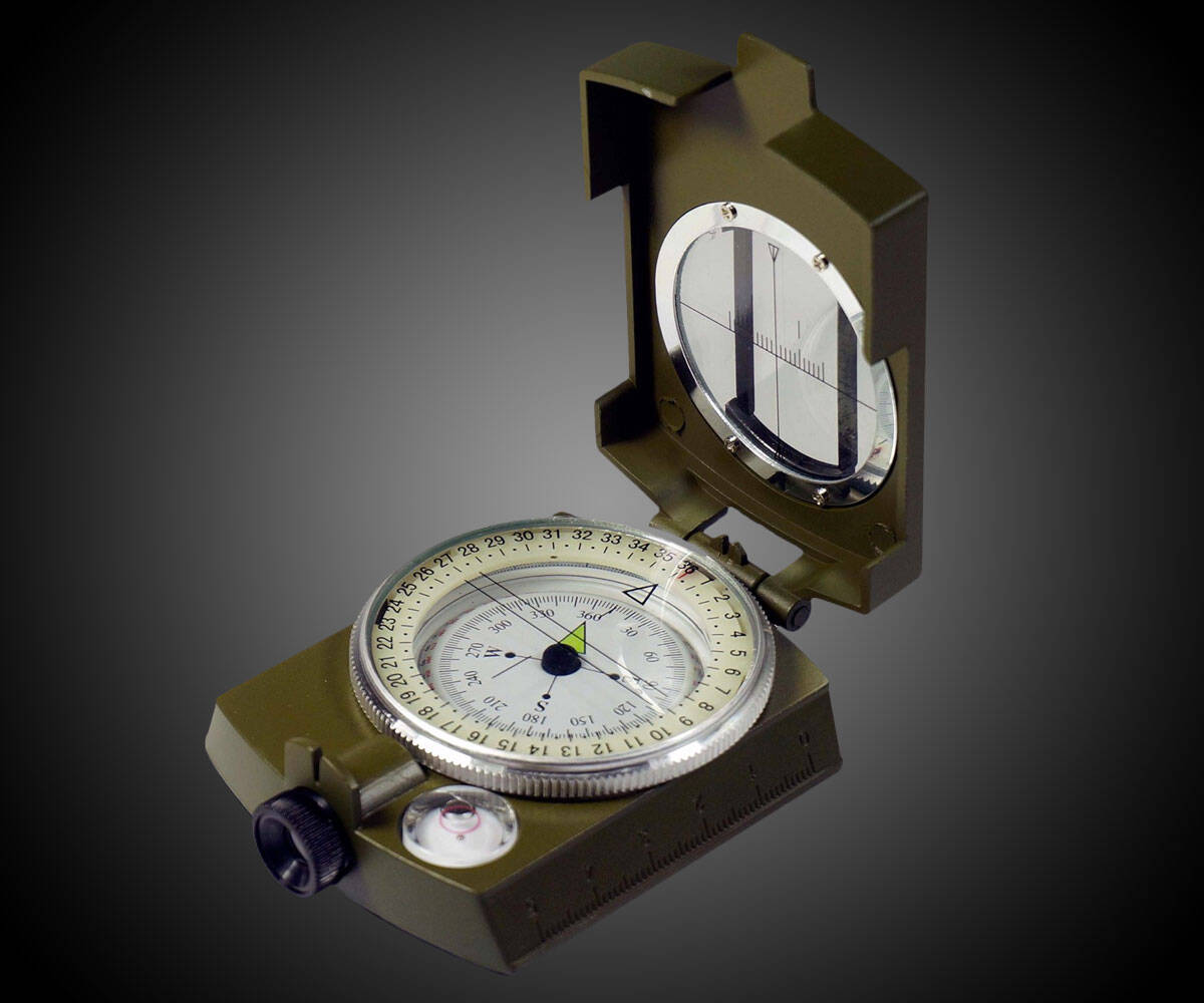 Military Grade Lensatic Sighting Compass - http://coolthings.us