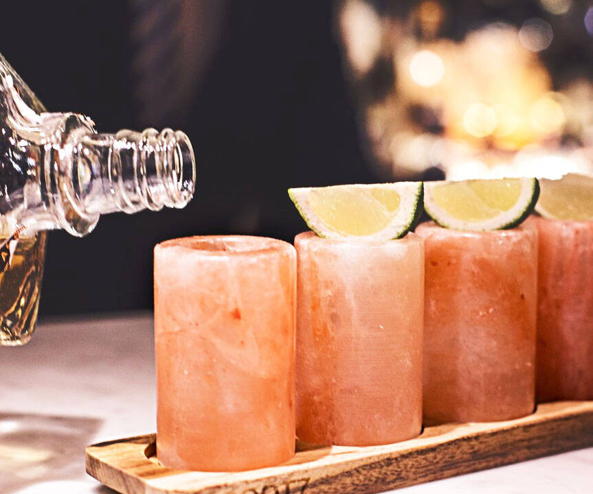 Himalayan Salt Shot Glasses - http://coolthings.us