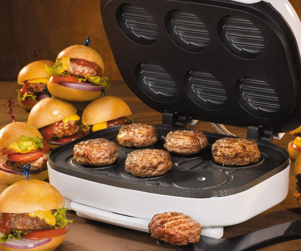 Mini Burger Machine - http://coolthings.us