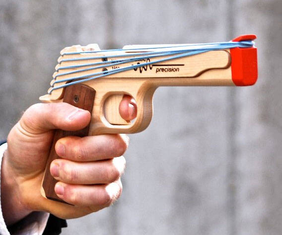 Model 1911 Rubber Band Gun - http://coolthings.us