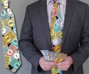 Monopoly Money Tie - http://coolthings.us