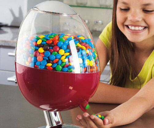 Motion Activated Candy Dispenser - http://coolthings.us