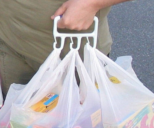 Multiple Grocery Bag Carrier - http://coolthings.us