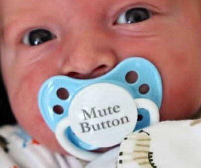Mute Button Pacifier - coolthings.us