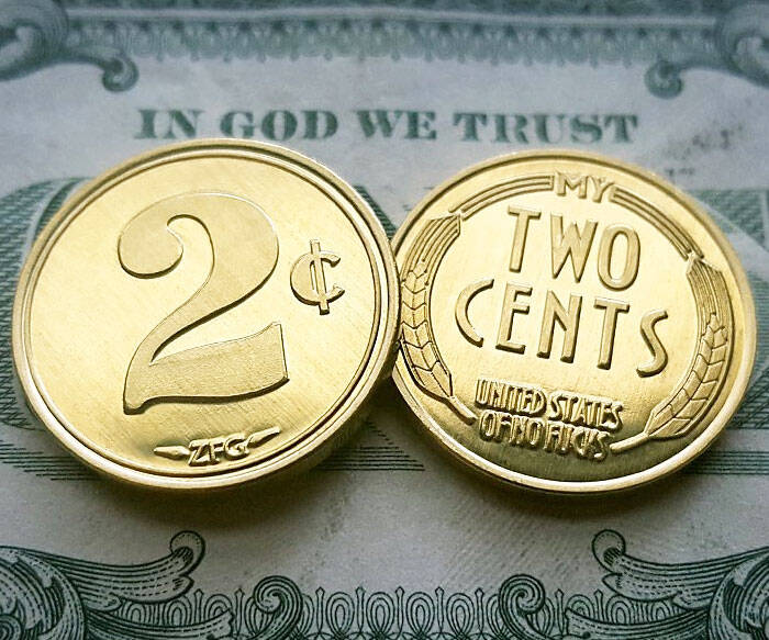My Two Cents Coins - http://coolthings.us